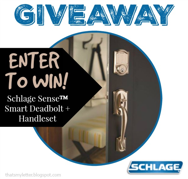 schlage sense smart deadbolt giveaway