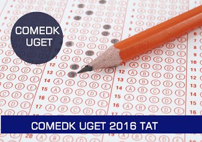 comedk admit card 2016 UGET TAT