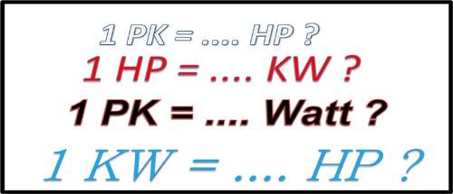 menghitung satuan daya listrik hp, kw, watt, pk dan sejarahnya