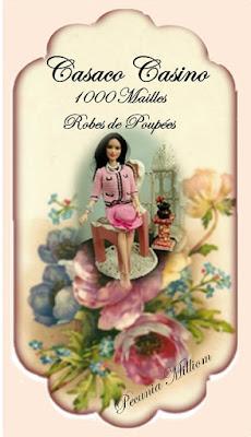 PAP casaco, saia e chapeu em crochê para Barbie