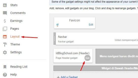 cara memasang logo di blog
