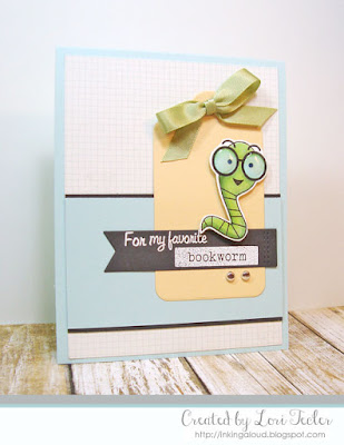 For My Favorite Bookworm card-designed by Lori Tecler/Inking Aloud-stamps and dies from SugarPea Designs