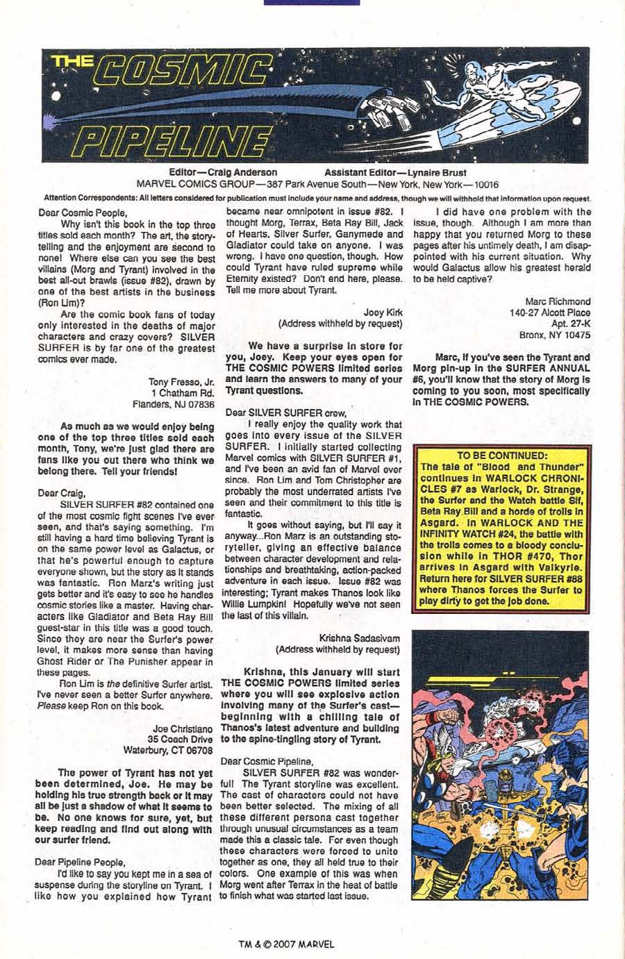 Read online Silver Surfer (1987) comic -  Issue #87 - 34