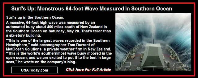 Monstrous 64-Foot Wave Measured In Southern Ocean