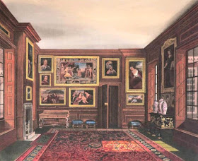 The King's Closet, Kensington Palace, from The History  of the Royal Residences by WH Pyne (1819)