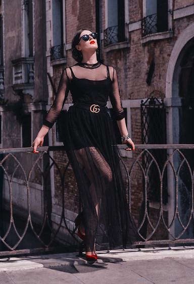 vestido transparente