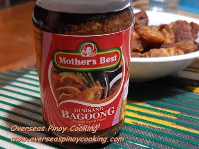 Binagoongan Kamias at Baboy - Ingredients