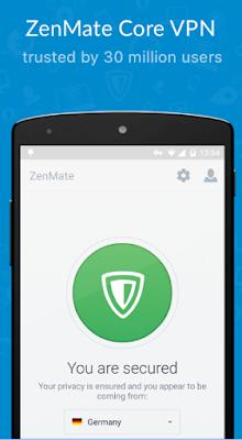 Terhubung Zenmate VPn di android