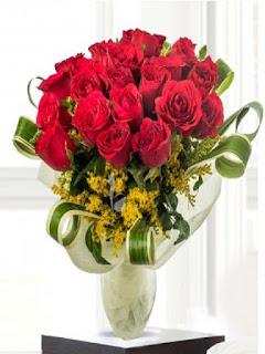Flower Aura Offer Buy 24 Red Roses Bunch on Rs. 729