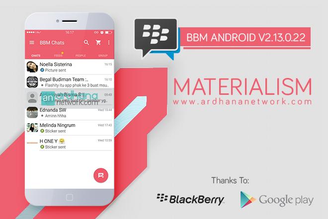 BBM Materialism Pink V2.13.0.22 - BBM MOD Android V2.13.0.22