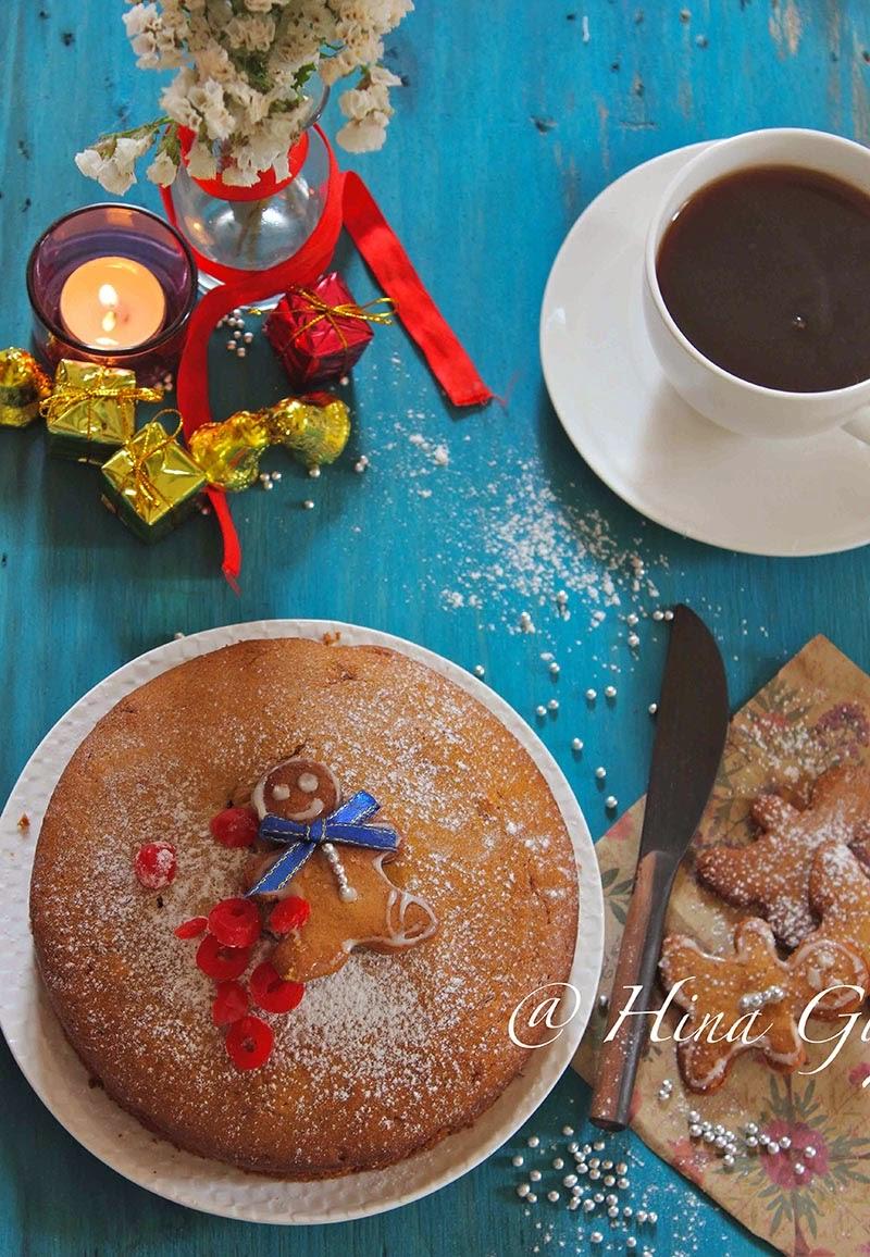 is my adaption of classic Gingerbread Cake amongst a hint of rattling Indian Garam Masala as well as sw Garam Masala Spiced Gingerbread Cake amongst Nolen Gur