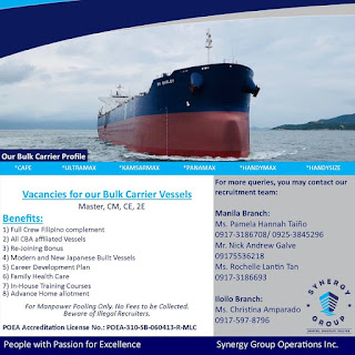 Employment Agencies Hiring Bulk Carrier Ship Crew