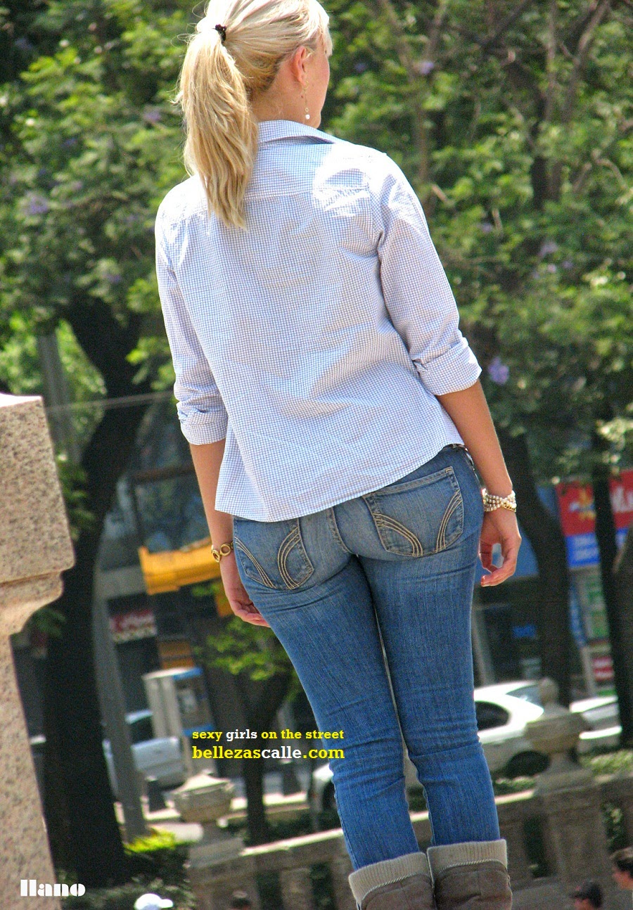 Hot blondes in tight jeans