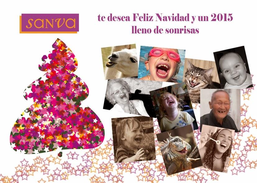 Sanva te desea Feliz Navidad y un 2015 lleno de sonrisas