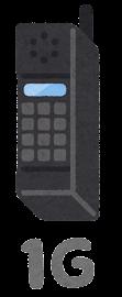 移動通信システムのイラストマーク(1G)