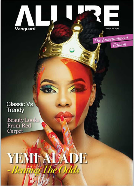 yemi alade vanguard allureNigeria  singer  Yemi Alade is king on the front of Vanguard Allure (Photos)