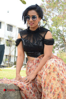 Actress Chetana Uttej Stills in Floral Long Skirt at Pichiga Nachav Movie Press Meet  0070.JPG
