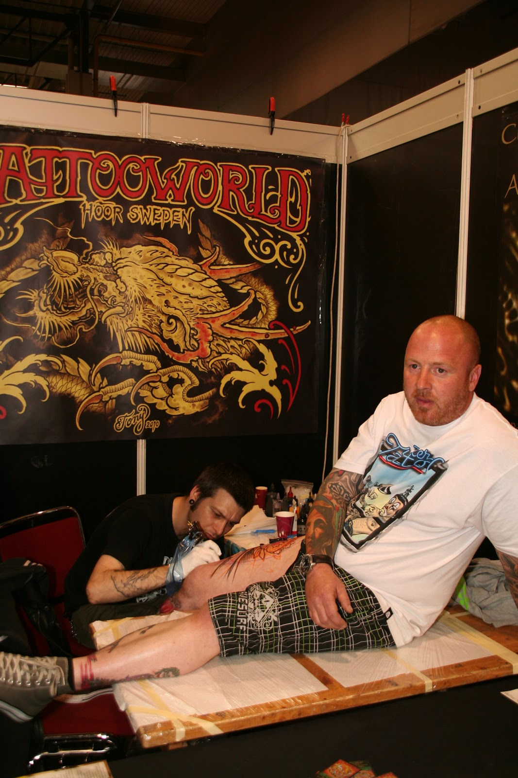 tattooworld h r sweden alex and tony are back in the shop after the dortmund tattoo convention. Black Bedroom Furniture Sets. Home Design Ideas