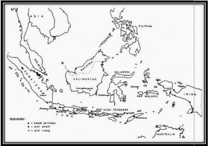 Pembelajaran Sejarah D Peta Penemuan Manusia Purba Dan Hasil Budayanya