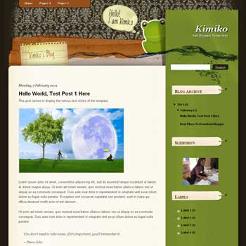 Kimiko<br /> blogger template. blogger template from wordpress theme