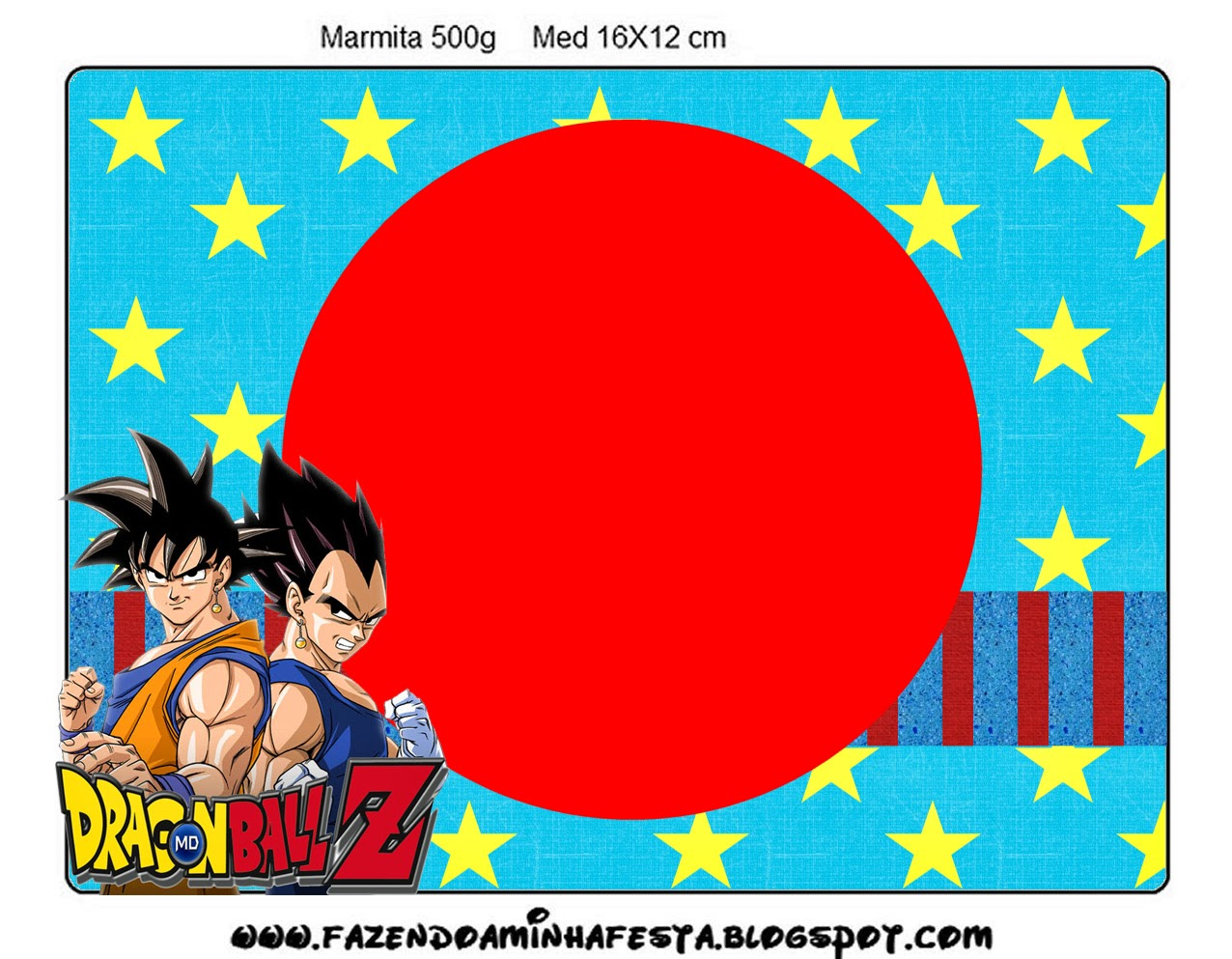 Dragon Ball Z Free Printable Candy Bar Labels