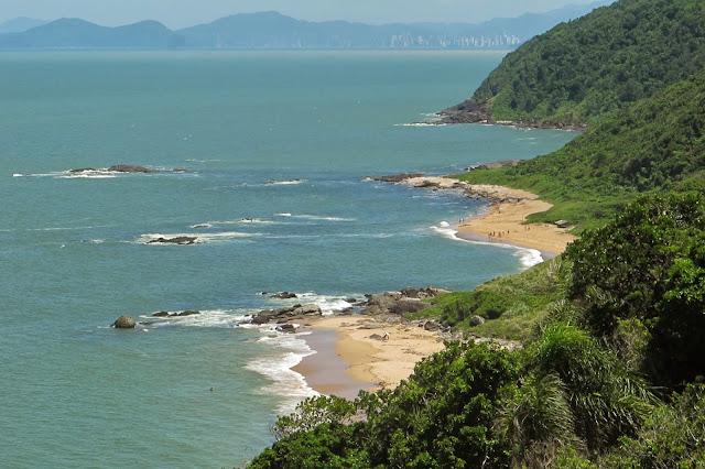 Mirante da Praia Vermelha, em Penha, no litoral catarinense.