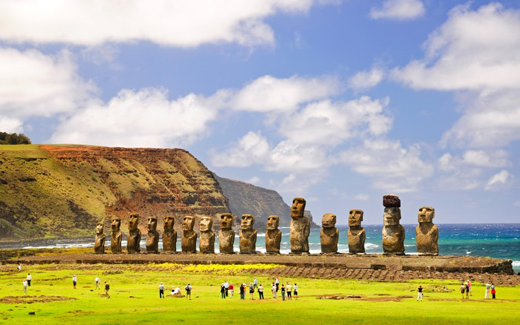 νησί του Πάσχα αγάλματα που χρονολογούνται από τον άνθρακα