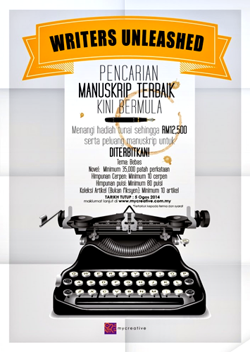 Pertandingan MyCreative Writers Unleashed: Pencarian Manuskrip Terbaik