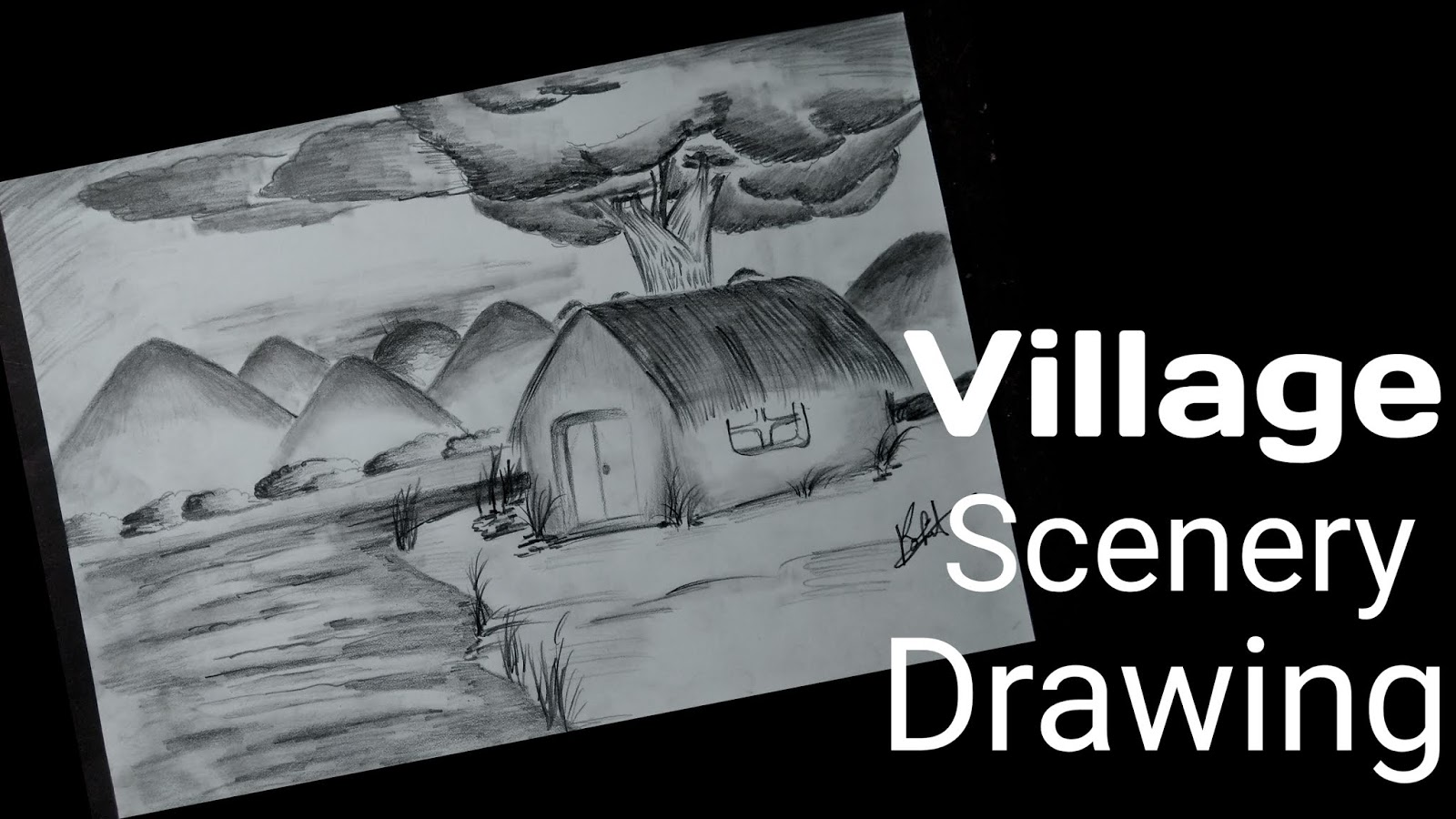 Artofrohit com how to draw village scenery step by step