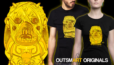 "Forces of Dorkness x outsmART originals ""Tusken Idol"" Star Wars x Indiana Jones T-Shirt"