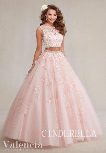 Vestido 15 Años 2 Piezas Importado Talle 38 Rosa 2018