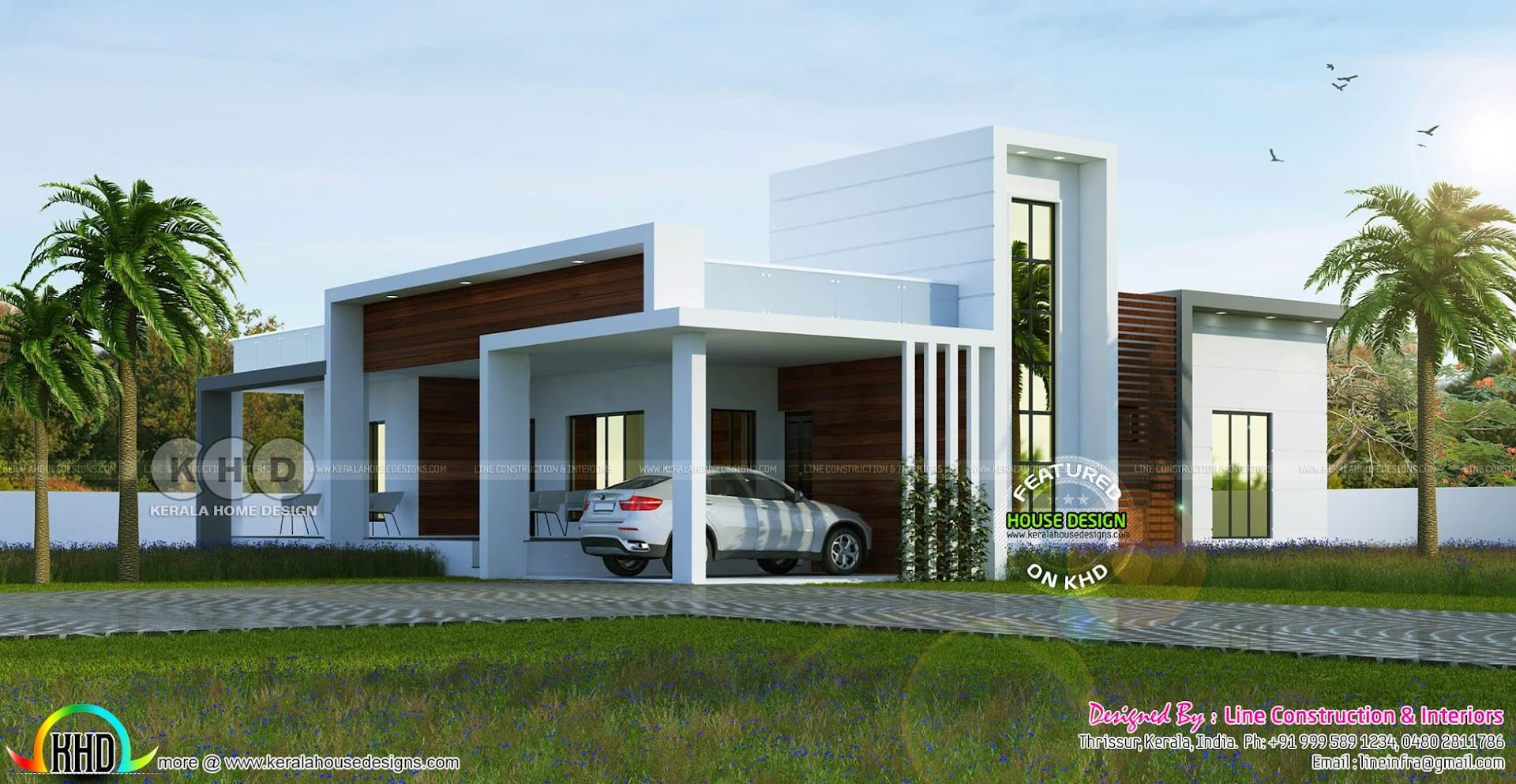 1255 sq ft 4 bedroom flat roof box model home