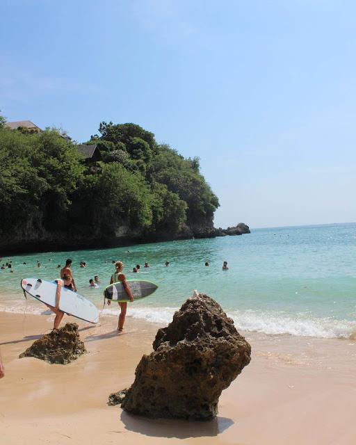 foto pantai indah indonesia pantai padang padang