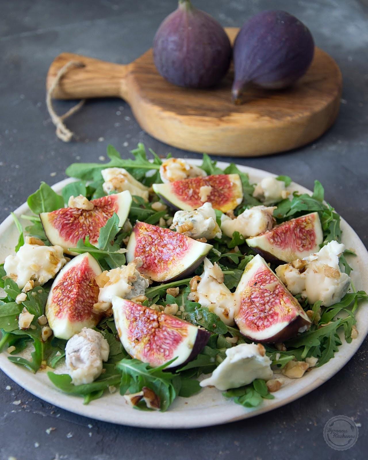 Sałatka z figami i gorgonzolą