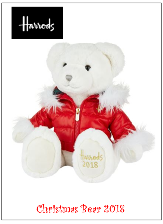 Harrods Christmas Bear Has Arrived
