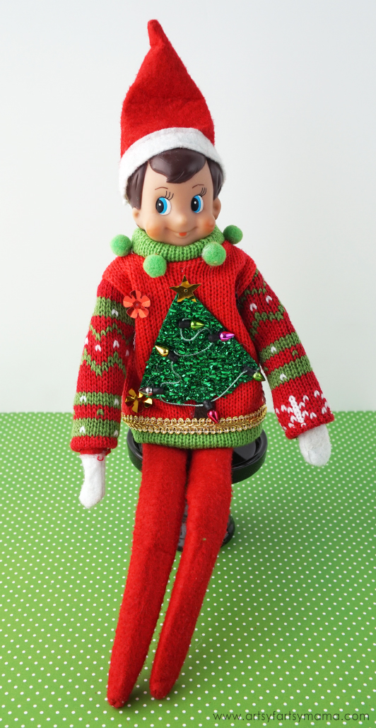 Elf On The Shelf Jumper Knitting Pattern : Elf on the Shelf Ideas with Free Printable Calendar artsy-fartsy mama