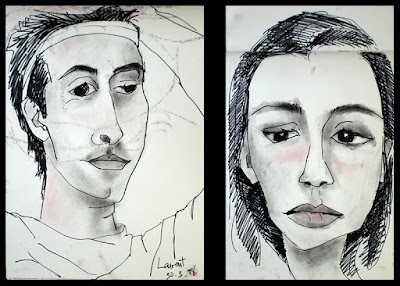 Portraits of Laurent and Maria, made while living in Kuala Lumpur, Malaysia