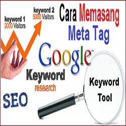 Cara Memasang Meta Tag Keyword atau Kata Kunci di Blog
