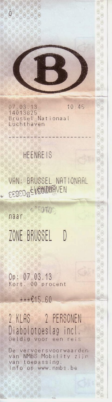 Billete al aeropuerto de Bruselas