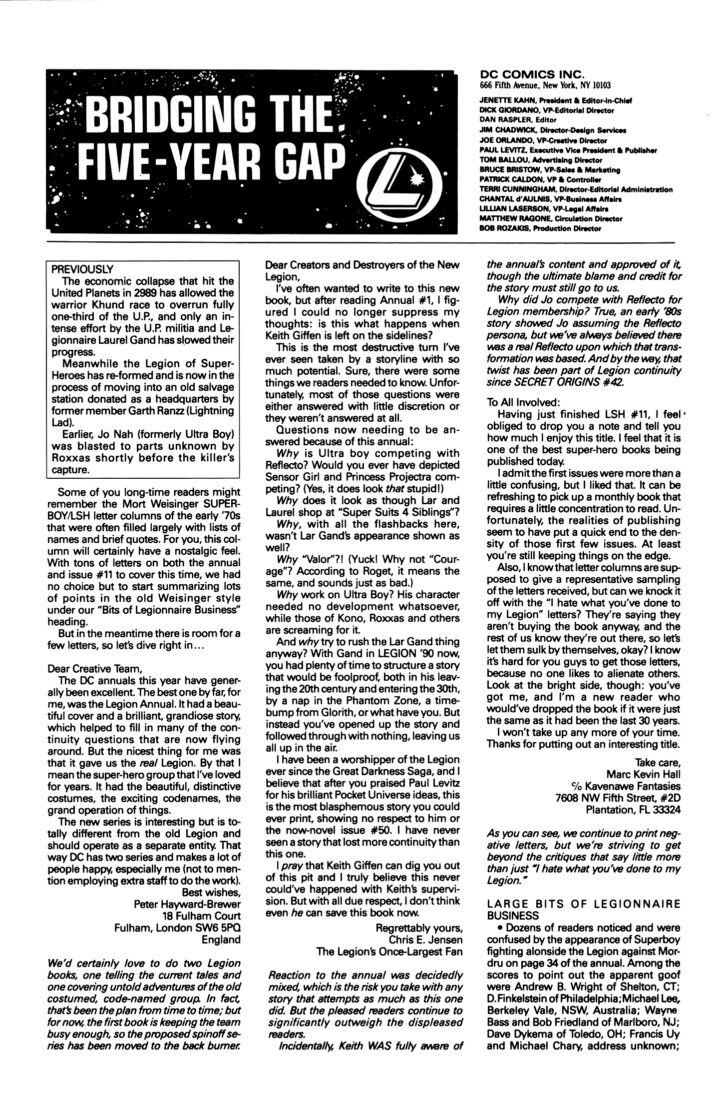 Legion of Super-Heroes (1989) 15 Page 26