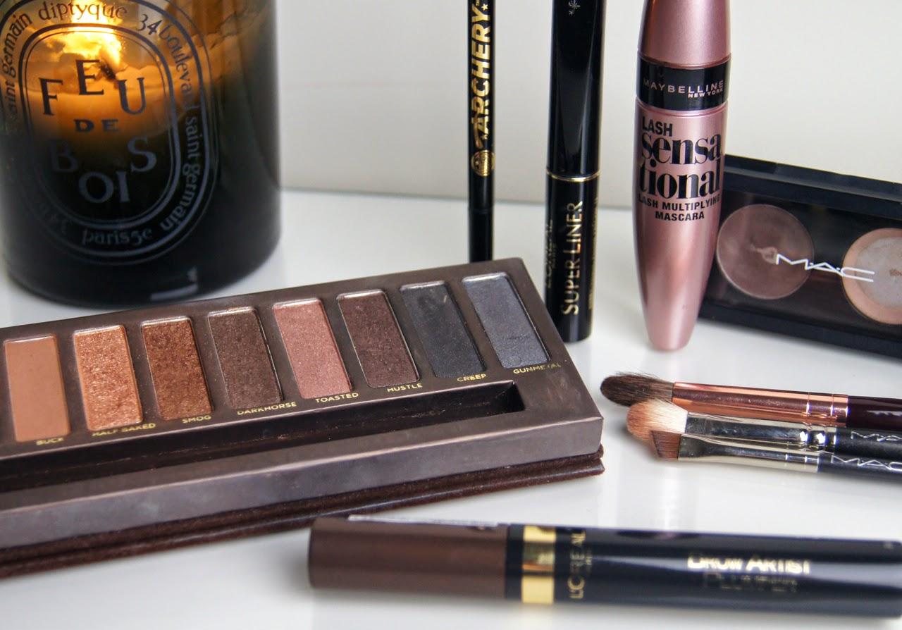 valentine's makeup look defined matte eyes liquid liner soft brows