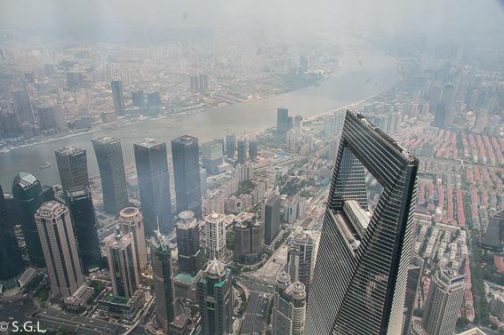 Shanghai world financial center visto desde el Shanghai Tower