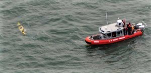USCG finds a swamped kayak