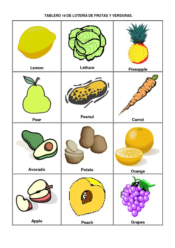 20 Frutas En Inglés Imagui