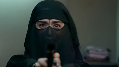 Soundarya Sharma Action Gun HD Image In Ranchi Diaries Movie