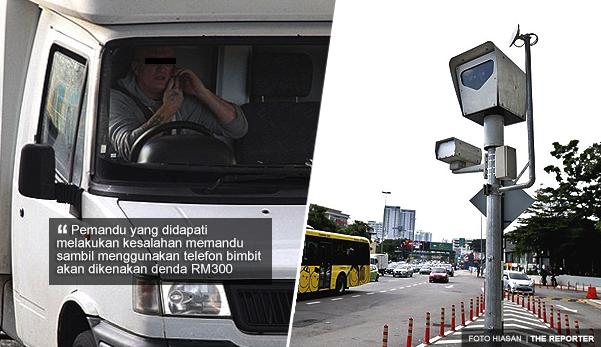 JPJ guna kamera untuk rakam gambar pemandu guna telefon bimbit, denda RM300