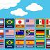 Jogo da Memória - Bandeiras dos países