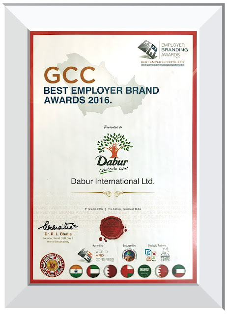 Dabur International wins 'The Best Employer Award' at the GCC Best Employer Brand Awards 2016