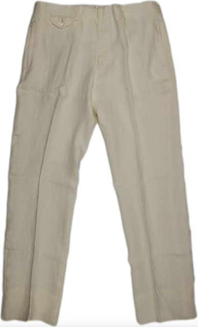 Ralph Lauren Purple Label Off-White Linen Pants