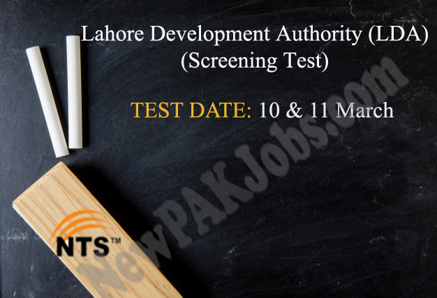 LDA NTS Test Schedule for Lahore Development Authority (LDA) March 2018